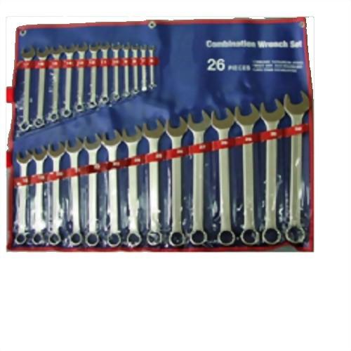 26 Pcs European Thin Type Combination Wrench set (Chrome Vanadium Stain finish)