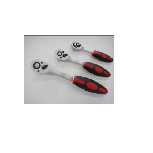 """Ratchet Handle with Quick Release 1/4"""",3/8"""",1/4"""" *72T (Chrome Molybdenum Steel Driver Satin finish)"""