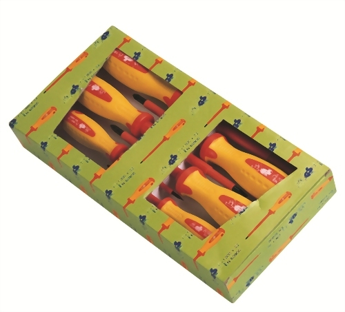 7 Pcs Insulated Screwdriver Set  (CR-MO Steel) with Volt Tester