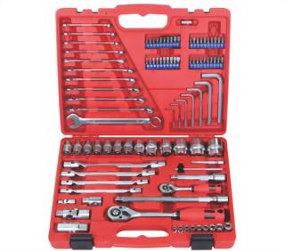"""1/4"""", 1/2"""" 95 Pcs Knurled Socket tool set"""