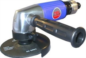 """0.5Hp 4"""" Industrial Roll Throttle Type Air Angle Grinder."""