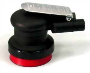 """Composite Industrial Self-Gerated Vacuum Type Air Random Orbital Sander With 3.5"""" Vinyl/Hook Face Pad"""