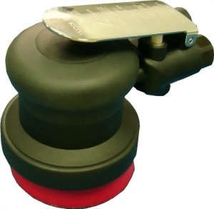 "Composite Industrial Air Random Orbital Sander With 3"" Vinyl/Hook Face Pad"