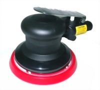 "Composite Industrial Air Random Orbital Sander With 6"" Vinyl/Hook Face Pad"