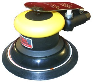 "Composite Industrial Oil Free Random Orbital Sander With 5"" Vinyl/Hook Face Pad"