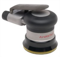 "Industrial Low Profile Random Orbital Sander With 3"" Vinyl/Hook Face Pad"