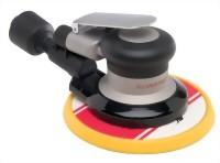 "Industrial Central Vacuum Type Random Orbital Sander With 6"" Low profile(Tapered Edge) Vinyl /Hook  Face Pad"