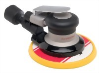 "Industrial Self-General Vacuum Random Orbital Sander With 6"" Low Profile(Tapered Edge) Vinyl/Hook Face Pad"