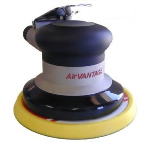 "Industrial Random Orbital Sander With 5"" Low Profile(Tappered Edge) Vinyl /Hook Face Pad"