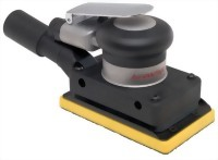 "Industrial Central Vacuum Type Orbital Sander With 3""x5"" Vinyl/ Hook Face Pad"