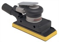 "Industrial Central Vacuum Type Orbital Sander With 3""x7"" Vinyl/ Hook Face Pad"