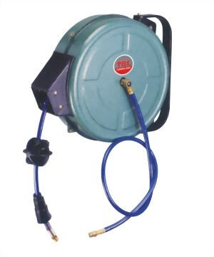 Auto-Rewinder Air Hose Reel With Pu Rein Hose In Steel Case