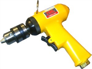 "3/8"" Industrial Reversible Two Gear Mechanism Air Drill"