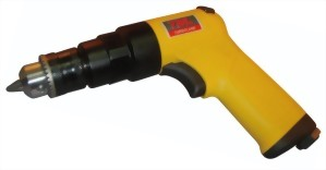 "0.45Hp 3/8"" Industrial Composite Three Gear Mechanism Reversible Air Drill With (Handle Exhaust)"