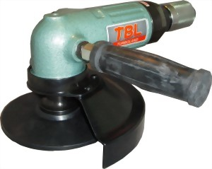 "7"" Industrial 3 In 1 Air Angle Grinder;Sander;Wire Brush Tool With Roll/Lever Type Throttle"
