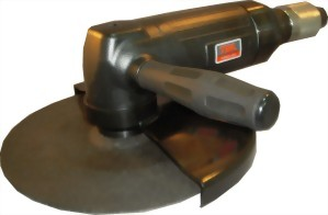 """9"""" 2Hp Industrial Air Angle Grinder With Roll/Lever Type Throttle"""