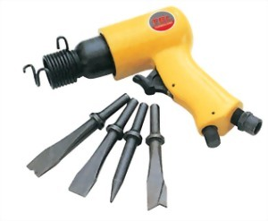 150mm Hex./Round Shank Air Hammer With 5Pcs Chisels