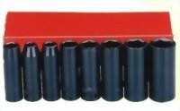 "8 Pcs 3/8"" Deep Air Impact Socket (Chrome-Vanadium Steel)"