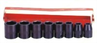 "8 Pcs 3/8"" Air Impact Socket Kit (Chrome-Vanadium Steel)"