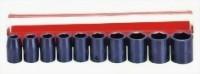 "10 Pcs 1/2"" Air Impact Socket Kit (Chrome-Vanadium Steel)"