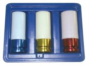 """3 Pcs 1/2"""" Air Thin Wall Deep Impact Socket Set(Cr-Mo)"""