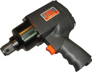 """1"""" Pistol Type Mini Heavy Duty Twin Hammer Mechanism Air Impact Wrench With 1""""/6"""" Anvil"""