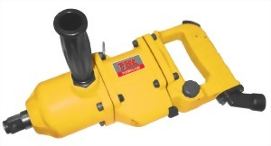 """3/4"""" Super Duty Twin Hammer Mechanism Straight Type Air Impact Wrench With 2"""" Long Anvil"""