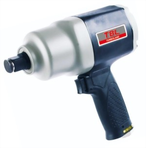 """3/4"""" Industrial Composite Twin Hammer Mechanism Air Impact Wrench With Handle Exhaust"""