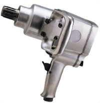 """1"""" Industrial #5 Spline Twin Hammer Mechanism Pistol Type Air Impact Wrench With 1""""/6"""" Anvil"""