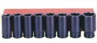 "8 Pcs 3/4"" Deep Air Impact Socket (Chrome-Molybdnum Steel)"