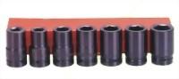"7 Pcs 1"" Deep Air Impact Socket Kit (Chrome-Molybdnum Steel)"