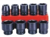 "9 Pcs 1"" Air Impact Socket  Kit(Chrome-Molybdenum Steel)"