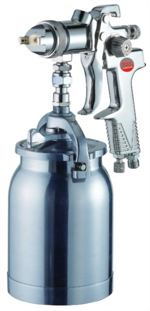 Syphon Feed Air Spray Gun With 1000cc Aluminum Cup