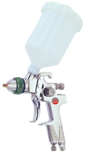 Professional High Volume Low Pressure Gravity Feed Air Spray Gun With 600cc Nylon Cup  & 1.4mm Nozzle