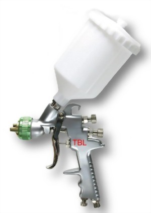Water Base High Volume Low Pressure Gravity Feed Air Spray Gun With 600CC Nylon Cup