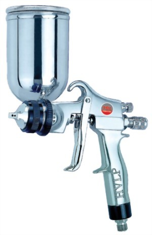Professional High Volume Low Pressure Gravity Feed Air Spray Gun With 250cc Stainless Steel Cup