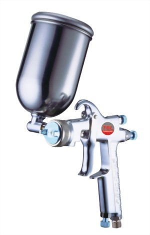 Gravity Feed Air Spray Gun With 250cc Stainless Steel Cup