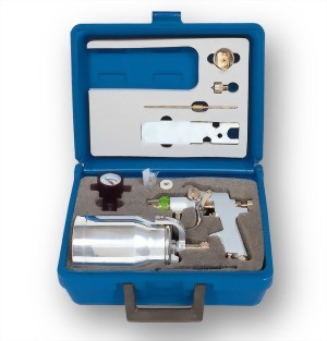 Professional H.V.L.P Suction Feed Air Spray Gun Kit
