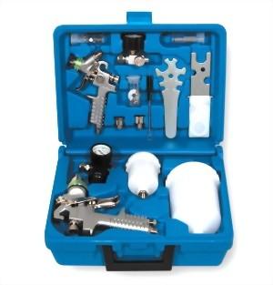 Professional H.V.L.P Gravity Feed Air Spray Gun Kit