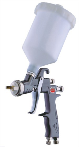 Water Base High Volume Low Pressure Gravity Feed Air Spray Gun With 600 cc Nylon Cup