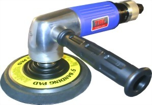 "Heavy Duty Lever(Roll) Type Throttle Air Angle Sander With 5"" PAD With Govenor"