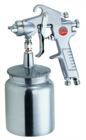 Gravity Feed Air Spray Gun With 700cc Aluminum Cup
