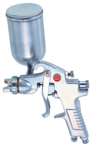 Gravity Feed Air Spray Gun With 400cc Aluminum Cup