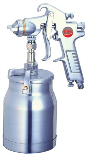 Syphon Feed Air Spray Gun With 1000cc Aluminum Cup