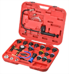 25 PCS HIGH QUALITY COOLING SYSTEM LEAKAGE TESTER AND VACUUM TYPE COOLANT REFILLING KIT _PATENTED   with CE