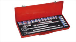 "1/2"" 24 Pcs Knurled Socket Ratchet set (50BV30 MAT Finish)"