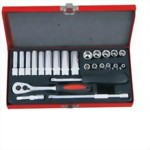 "1/4"" 24 Pcs Socket Ratchet handle set"