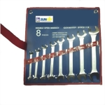 12Pcs DIN 3110 Double Open End Wrench Set (CRV 6140 Satin finish, 6-32mm)