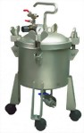 2 1/2 Gallon Dome Type Pressure Feed PaintTank