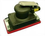 "Composite Industrial Orbital Sander With 3""x7"" Vinyl/Hook Face Pad"